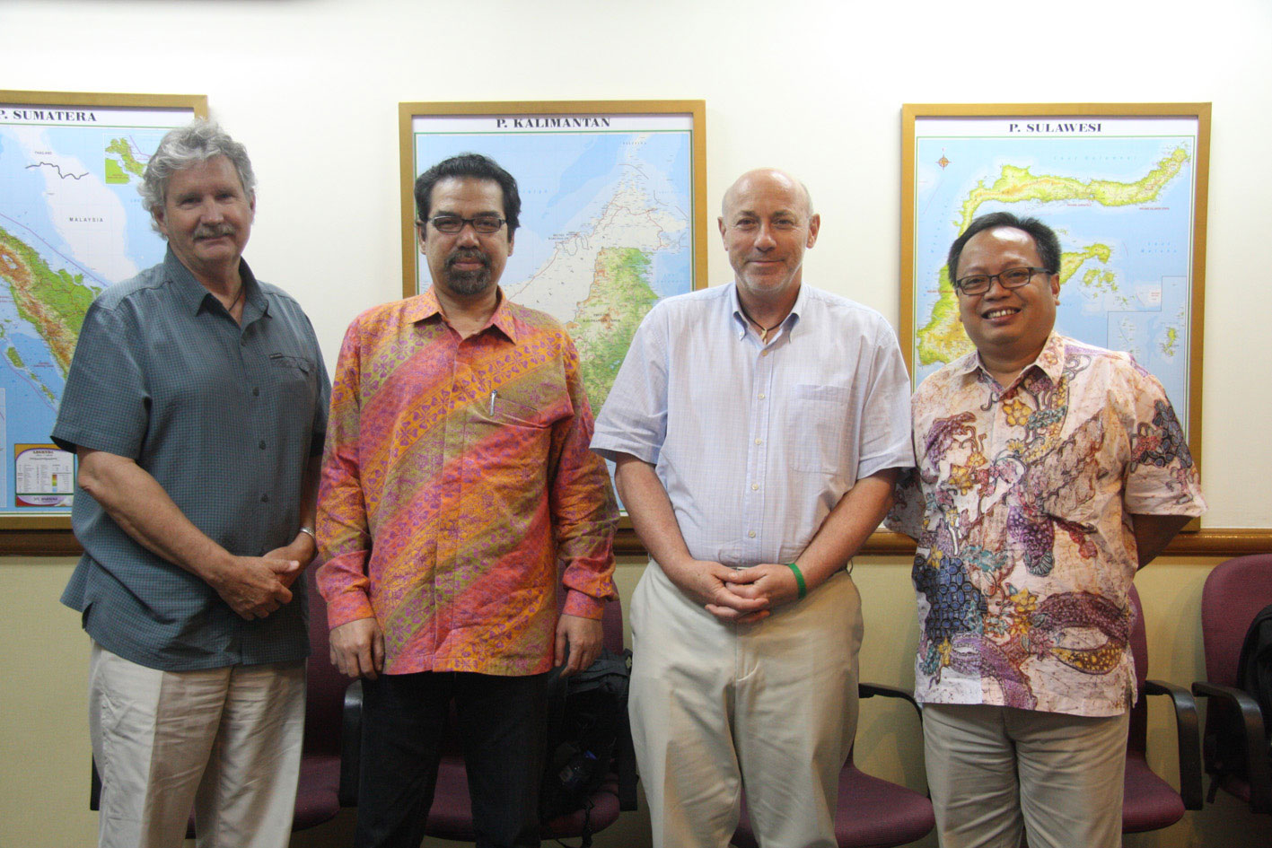 Members of The Independent Stakeholder Advisory Committee (SAC). From left to right: Joe Lawson, Al Azhar, James Griffiths, Budi Wardhana