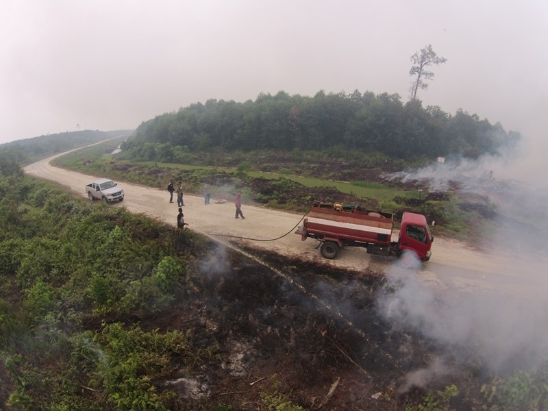 APRIL has deployed additional firefighters and equipment to combat blazes in Sumatra