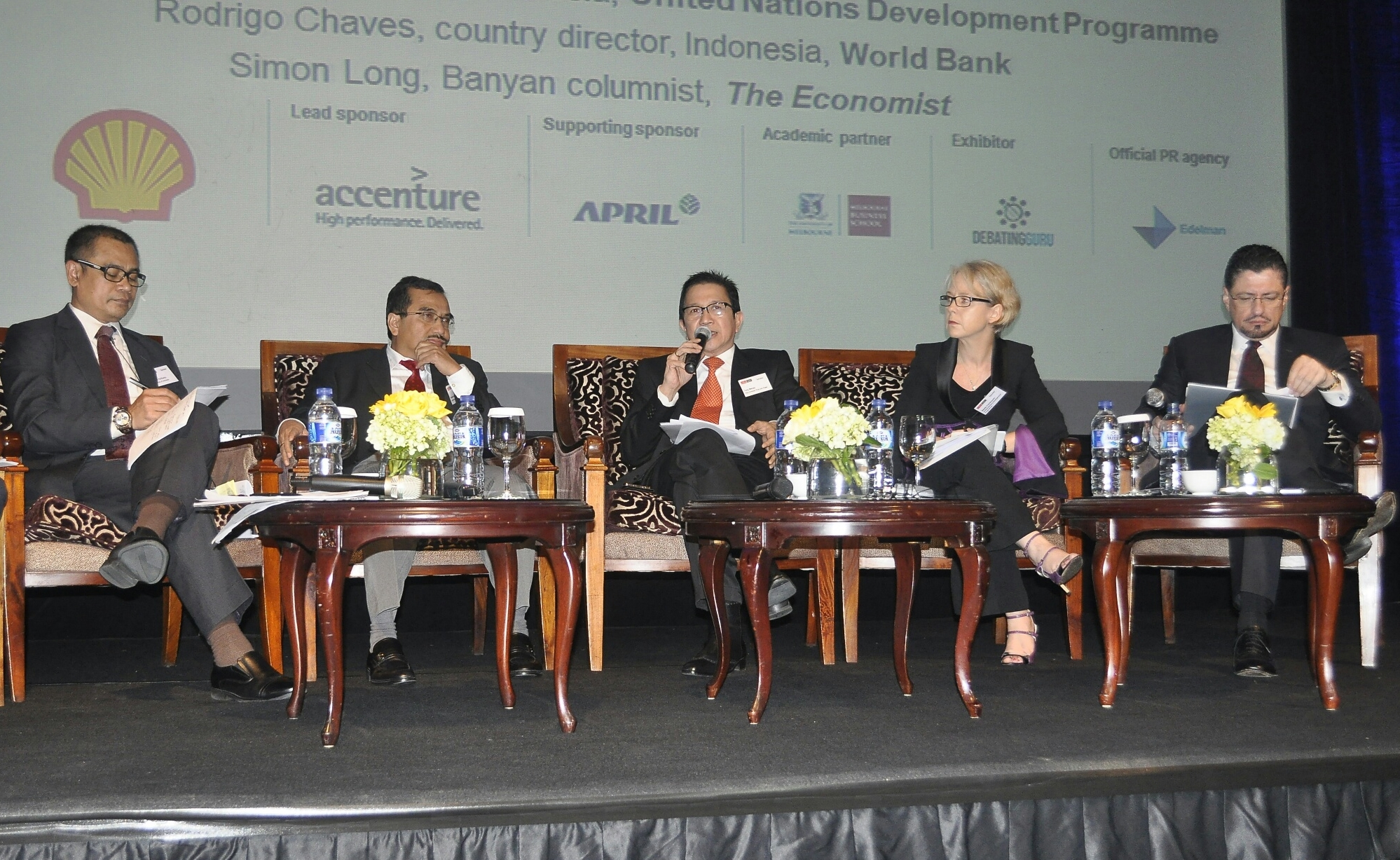 Tony Wenas at The Economist Indonesia Summit panel discussion