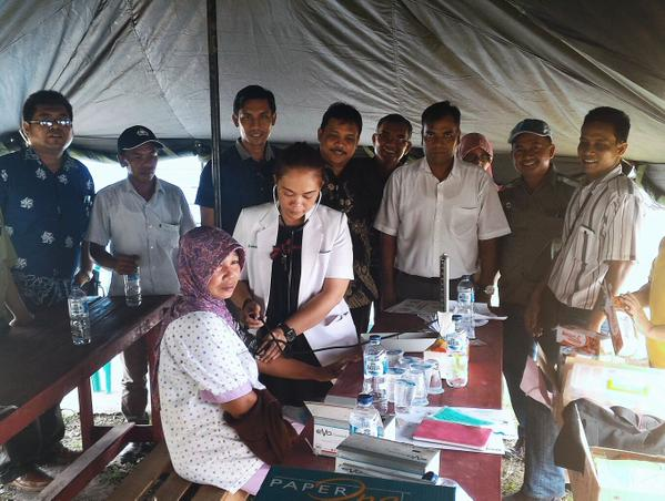 Free health clinic at Pekanbaru